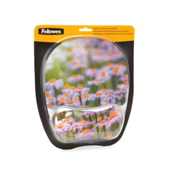 范罗士(FeIlowes)CRC92030炫彩系列春意盎然水晶硅胶鼠标垫