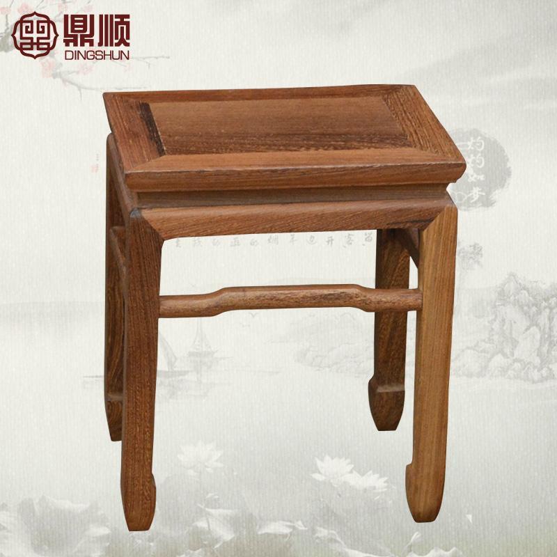 古典红木家具 原木矮凳子
