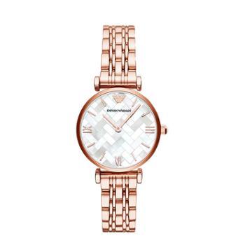 ARMANI阿玛尼欧美时尚女表钢带休闲简约手表AR11110