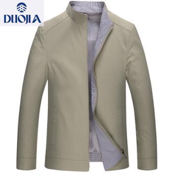 多佳男式夹克休闲中老年男宽松型外套合身简约爸爸装310019