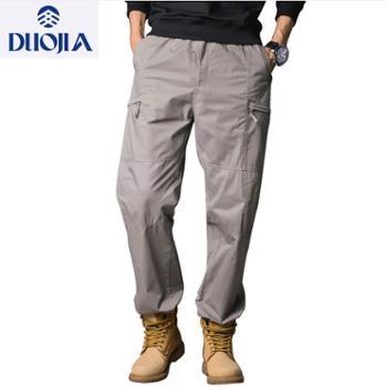 多佳男式多口袋运动时尚宽松长裤110197a