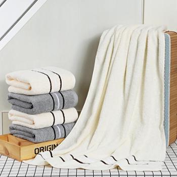 金号清然系列浴巾毛巾方巾五件套礼盒装
