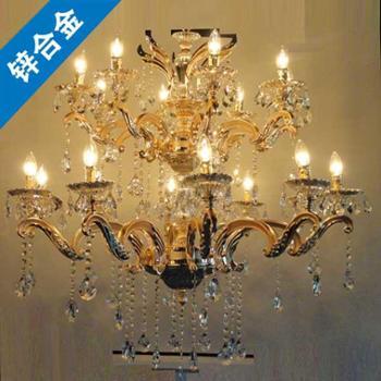 正品锌合金高档酒店用别墅用餐厅吊灯蜡烛灯