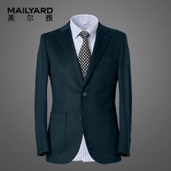 美尔雅西服单件纯羊毛男士商务休闲西服绒面男式西装上衣301