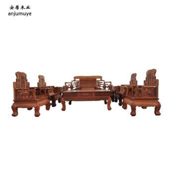 安居家具实木沙发组合沙发