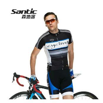森地客2014年夏季新款男式单车自行车服上衣短袖短裤骑行服套装MCT034