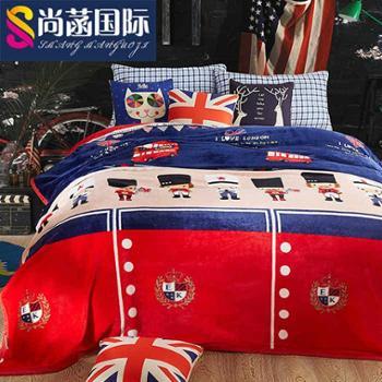 毛毯冬季盖毯空调毯加厚法兰绒珊瑚绒毯子午睡单人双人床单