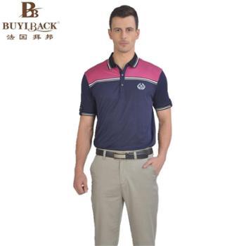 法国拜邦 男装t恤短袖新款棉质多色时尚休闲短袖POLO衫 TT7ZB-005 52