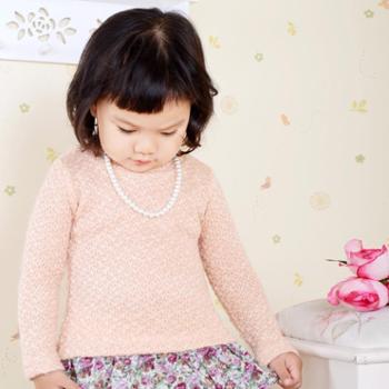 秋季新款童装韩版套头衫韩版长袖儿童针织衫淑女可爱童针织衫儿童拼接连衣裙