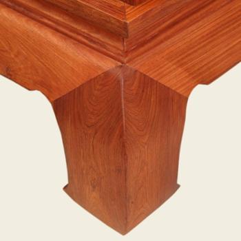 红木家具 中式实木床 罗汉床 非洲花梨木 实木罗汉床