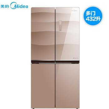 Midea/美的 BCD-432WGPZM十字对开门变频智能家用无霜节能电冰箱
