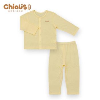 雀氏 宝宝竹纤维内衣新生儿衣服春夏初生婴儿两件套装休闲衣