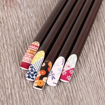 【筷子】佰润居日式尖头木筷子创意个性实木家用指甲筷寿司料理木质筷防滑