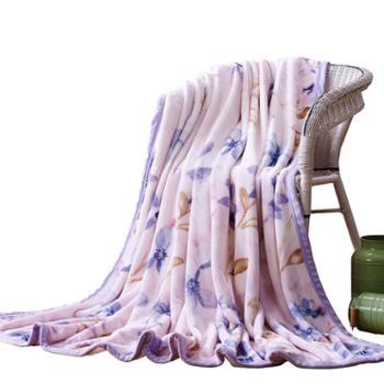 可欣家纺 双宜毯 超柔法兰绒毯子办公室午睡空调毯 保暖床单四季盖毯 180X200cm