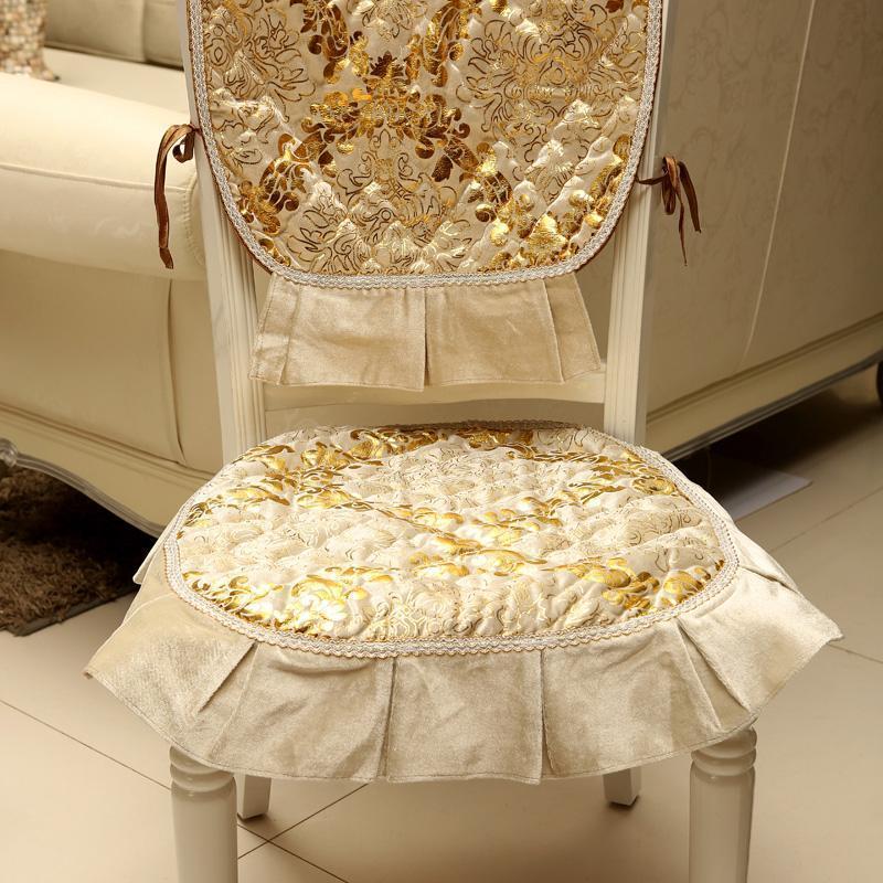 欧式奢华高档餐椅坐套椅子垫椅背巾椅套