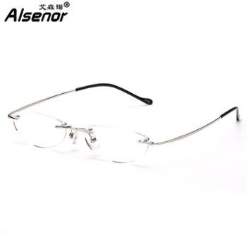 ALSENOR/艾森诺老花镜进口镜片高清高弹耐磨男女老花眼镜无框77705