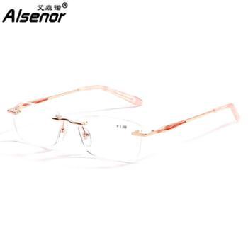 ALSENOR/艾森诺老花镜女进口镜片远近两用渐进多焦点高清舒适可全天佩戴无框716023