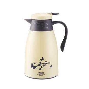 VENES菲驰水壶套装 德国品牌 宝丽来时尚家用壶一个 1000ml 热水壶 两个陶瓷杯 颜色随机