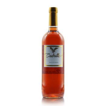 西班牙进口凯蒂佑桃红葡萄酒Cadrillo Rosado 进口红酒 750ml