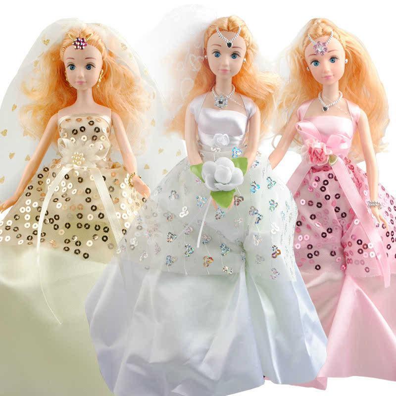 梦幻艾伊芭比娃娃婚纱珍藏版礼盒套装diy衣服制作小