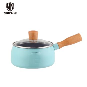 诺顿NORTON 纯铁+橡木 多用不粘料理锅 奶锅