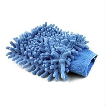 迪加伦超细纤维雪尼尔擦车手套擦车布洗车手套除尘手套双面