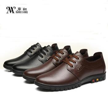南翔 新款春秋季皮鞋系带男士休闲男皮鞋 5506