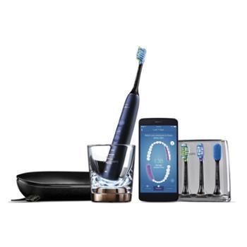 飞利浦(PHILIPS)钻石亮白智能型声波震动电动牙刷蓝牙版 星空蓝 HX9954/52