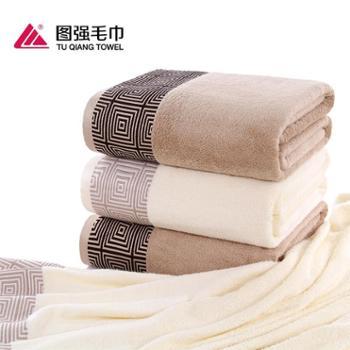 图强春夏竹纤维毛巾被单双人休闲空调毯子一条装