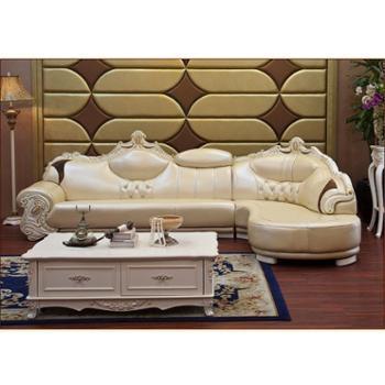 欧式真皮沙发组合奢华特价客厅实木头层进口牛皮家具厂家直销