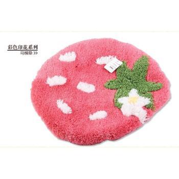 【汇嘉家居】热销粉色草莓地垫进门地高毛毯慢回弹脚垫卧室门口防滑垫