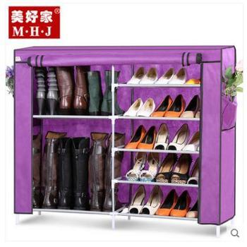 美好家 鞋柜 收纳鞋柜 布 简易 防尘鞋柜 组合大容量鞋柜 无纺布艺鞋柜