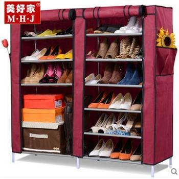 美好家加厚无纺布鞋柜简 易防尘鞋柜 折叠柜多功能鞋柜收纳柜