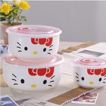 Hello Kitty 瓷碗餐具套装