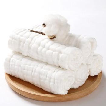 乐儿舒婴儿新生儿纱布尿布宝宝棉纱可洗吸水尿片小孩尿布10条装