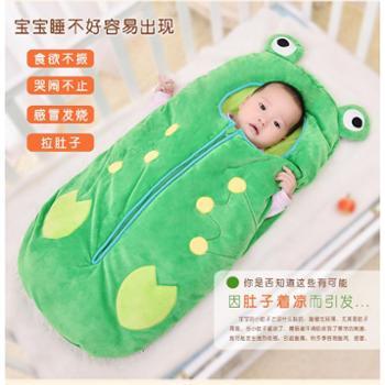 婴儿睡袋春夏秋冬抱被加厚儿童防踢被神器宝宝小孩新生儿睡袋秋冬厚款