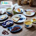 嘉兰可爱卡通海洋风创意陶瓷鲸鱼盘儿童餐具西餐碗碟盘