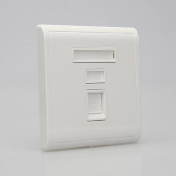 施耐德电脑插座pieno丰尚系列白色一位电脑插座
