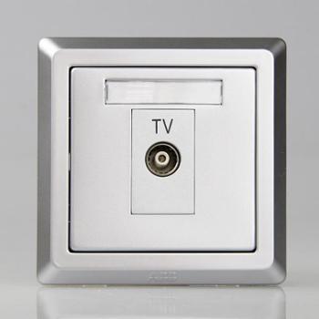 ABB单电视带分支插座EWA徳逸equip系列一位带分支电视插座