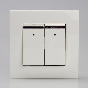 ABB二位单控带装饰线带灯开关10AXEWA由艺Uni-art系列