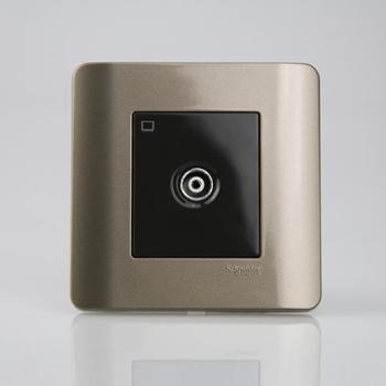 施耐德单电视插座ZENcelo轻点系列格调棕
