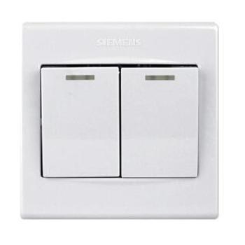 西门子二开单控带荧光品宜系列白色