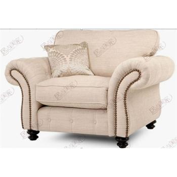 居尚美家厂家直供美式乡村风格时尚现代温馨舒适软体布艺AR-116组合沙发