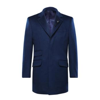 高级定制秋冬羊毛大衣中长款韩版修身男士商务休闲毛呢风衣外套潮