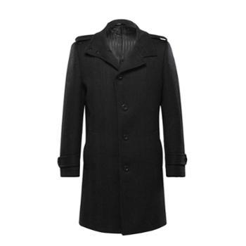 高级定制BONO秋冬中长款修身羊毛呢男士外套羊毛大衣潮外套