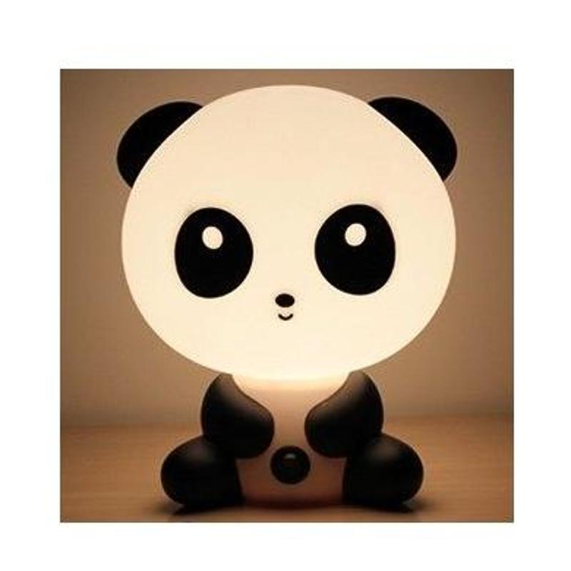 创意时尚卡通可爱功夫熊猫台灯 儿童婴儿房卧室床头小夜灯