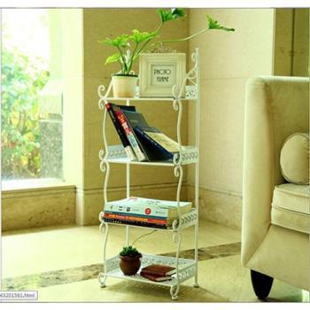 欧式铁艺四层多功能置物架 客厅整理架 洗手间卫浴收纳储物架