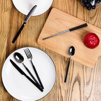 Lebengut不锈钢牛排西餐餐具刀叉勺三件套 创意刀叉套装牛排刀叉