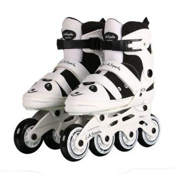 新款熊猫侠儿童溜冰鞋套装直排轮滑鞋旱冰鞋