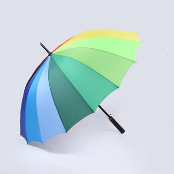 晴雨伞成人户外直柄彩虹伞